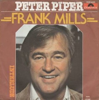 "The single cover for Frank Mills' single ""Peter Piper,"" which won two Juno Awards in 1980 and reached #48 on the U.S. singles charts."